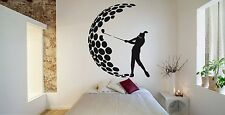 Wall Room Decor Art Vinyl Sticker Mural Decal Golf Sport Logo Club Ball F1215