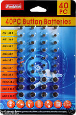 40 PCS of Assorted Batteries, Super Alkaline Set, Watch, Calculators, Cameras..