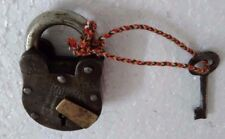 Rare old vintage unique look iron brass padlock & 1 key collectible India