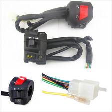"""2X Multifunction 7/8"""" 22mm Motorcycle Handlebar Horn Signal Light Control Switch"""