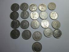 21 Coins set New Zealand 5 Cent coins.