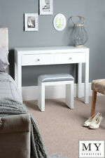 Chelsea White Glass high gloss Mirrored furniture Dressing Console table 4Legs