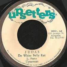 "LEE PERRY / UPSETTERS - JUDAS DE WHITE BELLY RAT ORIG JA PRESS REGGAE 7"" Listen"