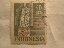Netherlands Indonesia Stamp 1949 Scott 320 A44  Green 40 Sen