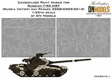 Camouflage paint masks for T-90 1/35 MBT Parade Airbrush Camo Scheme