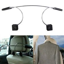 Auto Car Seat Headrest Clothes Coat Jacket Suit Stainless Metal Hanger Holder F7