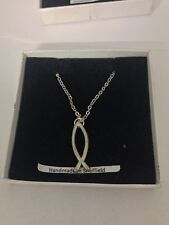 Christian Fish PP-G14 Emblem Silver Platinum Plated Necklace 18""