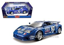 BBURAGO 1:18 BUGATTI EB110 SUPER SPORT (1994 RACE) Diecast Model Car 18-11039BL