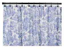 Victorian Shower Curtain Park Toile Bathroom Blue NEW Accessory French Decor