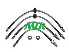 FORD ESCORT MK3 MK4 RS TURBO XR3 XR3i AEROQUIP BRAIDED BRAKE LINES HOSES MLR.OK