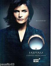 PUBLICITE ADVERTISING  026  2002  Mont Blanc parfum femme Presence