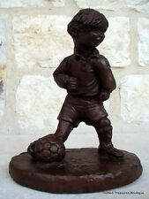 Red Mill Mfg Soccer Boy Biersdorfer Handcrafted Crushed Pecan Resin Figurine