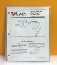 Tektronix P6454 100 MHz Clock Probe (New w/ Manual!)