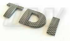 CARBON FIBRE VW TDI BADGE REAR HATCH GOLF TDI GTD TRANSPORTER T4 T5 CAMPER POLO