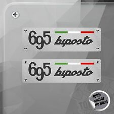 PEGATINA PLACA ABARTH 695 BIPOSTO FIAT VINYL STICKER DECAL ADESIVI