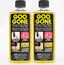 2 GOO GONE Grease Lipstick Sticker Crayon Gum Tar Tape Laundry Pre-Wash Cleaning
