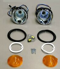 1964-1965 Mustang Parking Light Lamp Lights Pair with Lenses and Gaskets Turn