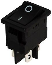 Interrupteur commutateur contacteur bouton à bascule noir DPST ON-OFF 6A/250V