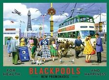 BLACKPOOL'S NEW PROMENADE TOWER BEACH SEASIDE HOLIDAY METAL PLAQUE TIN SIGN 418
