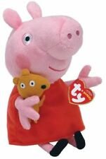 "TY PEPPA PIG BEANIE - 6"" (15CM) SOFT PLUSH TOY - BNWT - OFFICIAL, LICENCED ITEM"