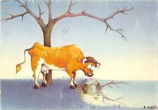 B98620 cow vache b martin postcard painting comic boeuf  animals animaux