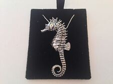 C12 Seahorse  on a 925 sterling silver Necklace Handmade 30 inch chain