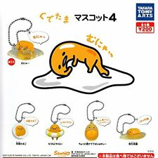 Gudetama Mascot 4 5 Pics Set Capsule Toys Gashapon From Japan