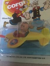 Corgi Juniors 1980 Popeye Olive Oil In Aeroplane,Original Packaging