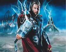 CHRIS HEMSWORTH THOR SIGNED AUTOGRAPHED 10X8 PRE-PRINT PHOTO