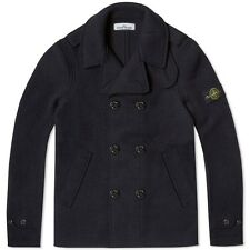 Stone Island Wool Pea Coat In Navy AW 15/16 BNWT