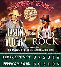 """JASON ALDEAN / KID ROCK """"ULTIMATE DOUBLE HEADER"""" 2016 BOSTON CONCERT TOUR POSTER"""