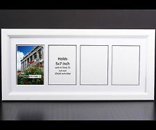 CreativePF 4 Opening Multi 5x7 White Picture Frame w/ 10x24 White Collage Mat