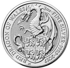 2017 2 oz British Silver Queen's Beast Dragon Coin..PRE-ORDER FOR 3/19/2017.