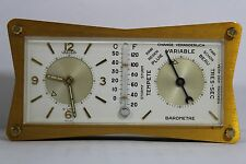 Vintage Swiss Jaeger LeCoultre Alarm/Barometer Desk Clock