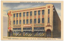 Linen Postcard The Chee Wo Tong Co. Chinese Emporium in Chicago, Illinois~105235