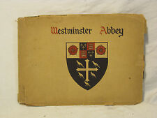 antique Westminster Abbey book photographs picture reproduction Photochrom 1928?