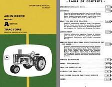 John Deere Model A Series Tractors Operators Manual OM-R2001
