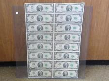 1976 $2 DALLAS TEXAS 16 CURRENCY NOTE UNCUT STAR SHEET 8466F