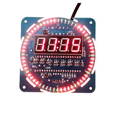 1PCS DS1302 Rotating LED Electronic Digital Clock 51 SCM Learning Board 5V NEW