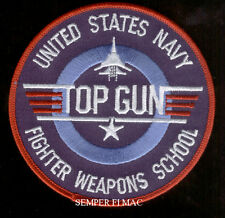 US NAVY FIGHTER WEAPON SCHOOL MAVERICK ICEMAN TOP GUN PATCH BADGE F14 TOMCAT USS