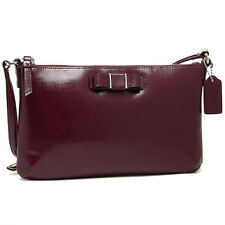 Coach Bag F52225 DARCY PATENT BOW EAST/WEST SWINGPACK Maroon  #COD Paypal