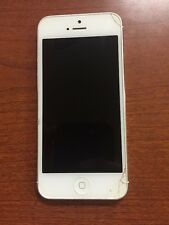 Apple iPhone 5 White Cracked Screen Locked Works Verizon