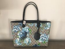 Reversible GG tote blue leather