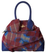 New VIVIENNE WESTWOOD Bag Satchel Leopard-Tartan-Medium. Сумка Дизайнерская