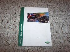 2002 Land Rover Defender Factory Original Owner's Owners Manual