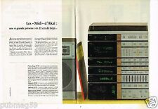 Publicité advertising 1984 (2 pages) La Chaine Hi-Fi Akai