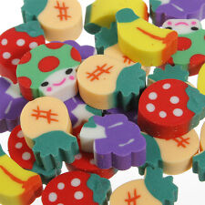 50X Novelty Fruit Pencil Rubber Eraser Erasers Stationery Kid Encourage Gift Toy
