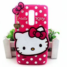 For LG G STYLO 2 PLUS - PINK HELLO KITTY Soft Rubber Silicone Case Skin Cover