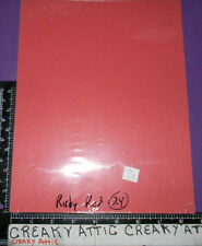 STAMPIN UP RUBY RED 24    SHEETS CARDSTOCK PAPER  8 1/2 X 11 retired