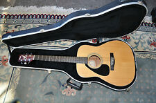 Yamaha FG-412L Acoustic Left Handed Guitar Lefty W/Hard Case.